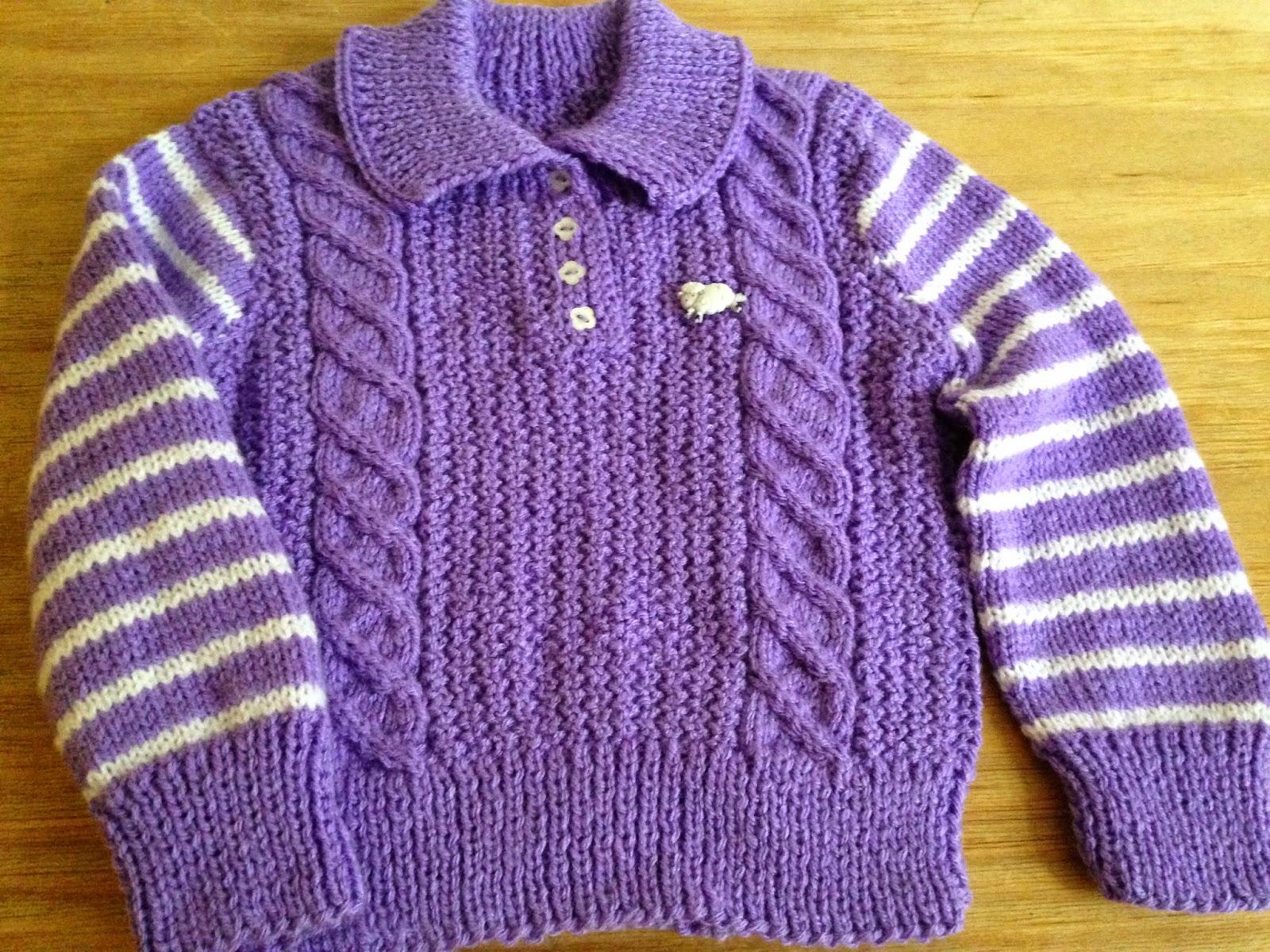 Entre Hilos y Puntadas: Suéter para niña