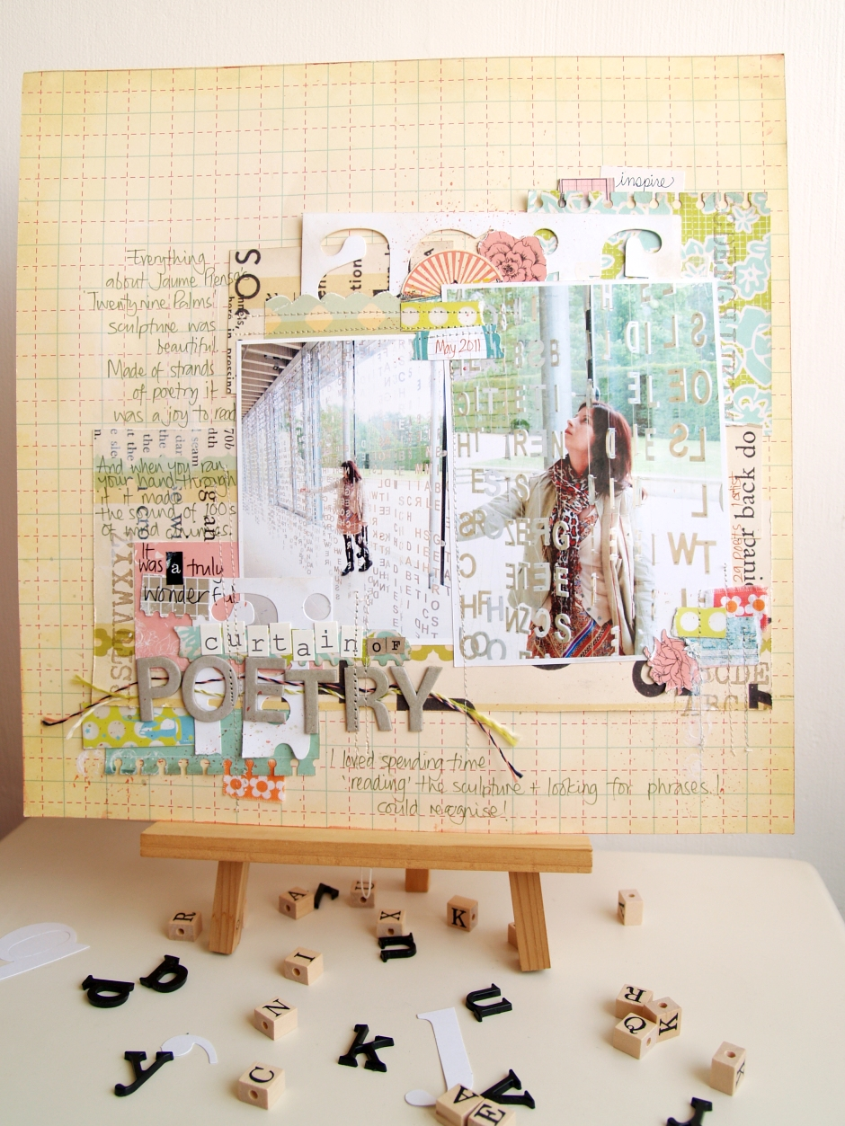 Scrapbook ideas words - Scrapbooking The Story The Curtain Of Poetry