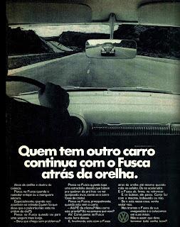 propaganda Volkswagen - 1970; os anos 70; brazilian cars in the 70s; Oswaldo Hernandez; década de 70;