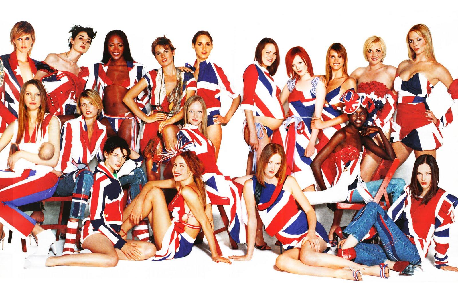 Vogue UK January 2002 (photography: Mario Testino) / Union Jack fashion editorials / fashioned by love british fashion blog