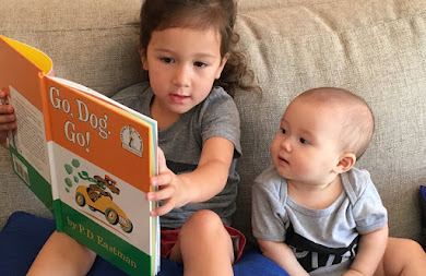 Siblings Share a Read Aloud