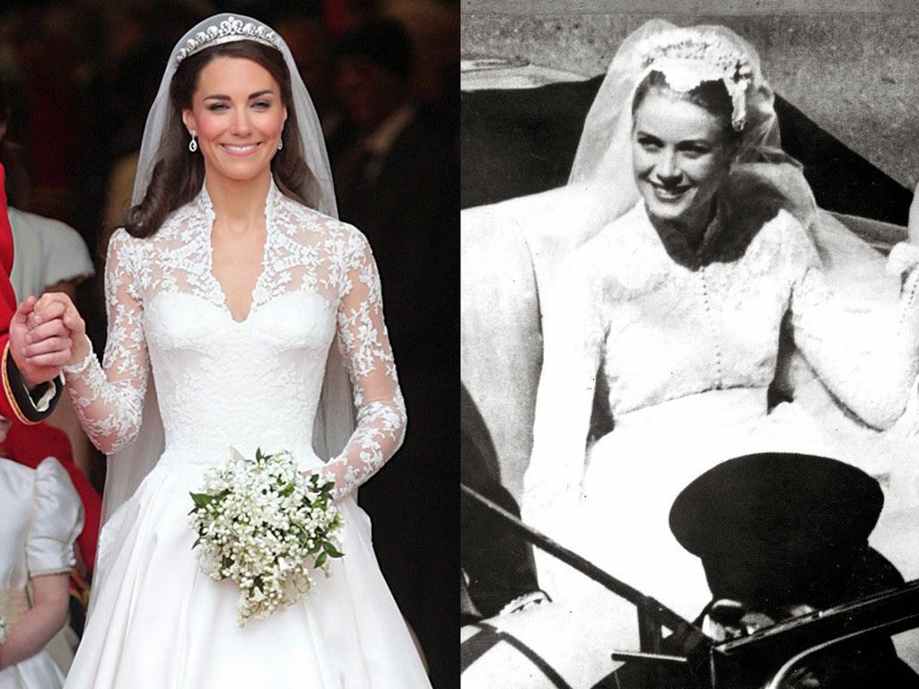 fashion&mode: kate middleton vs grace kelly: battle of wedding dress!