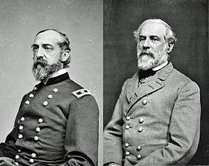 Meade y Lee, comandantes enfrentados