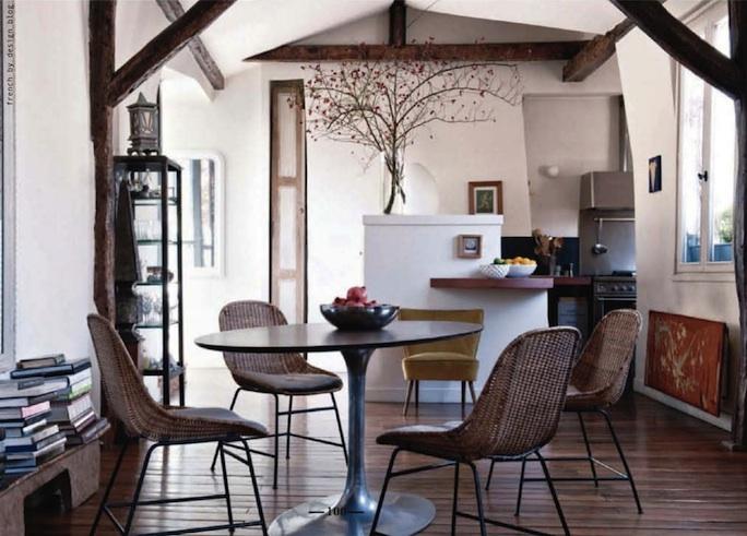my afternoon project: un tavolo rotondo in cucina