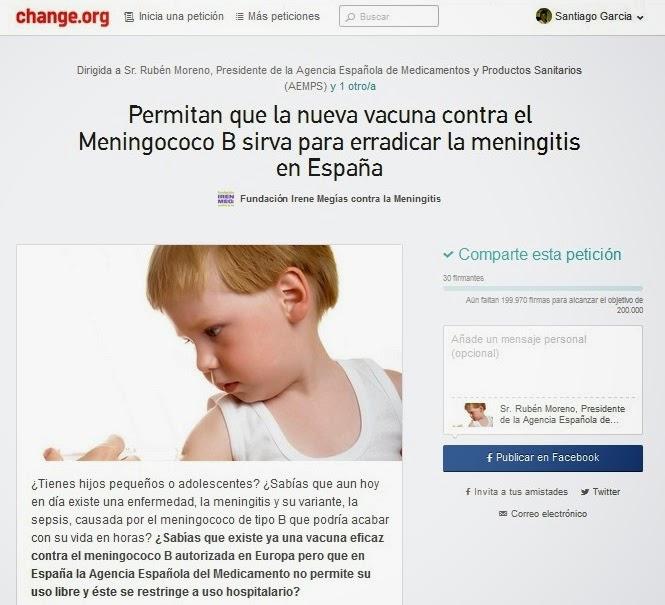 Change.org - Petición a la AEMPS