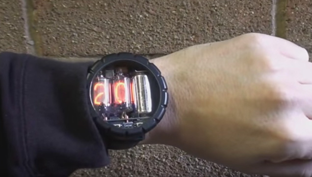 Nixie Watch, the high-voltage watch.