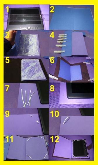 Como hacerl a funda para tablet