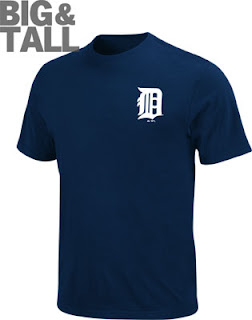 Big and Tall Detroit Tigers Logo T-Shirt