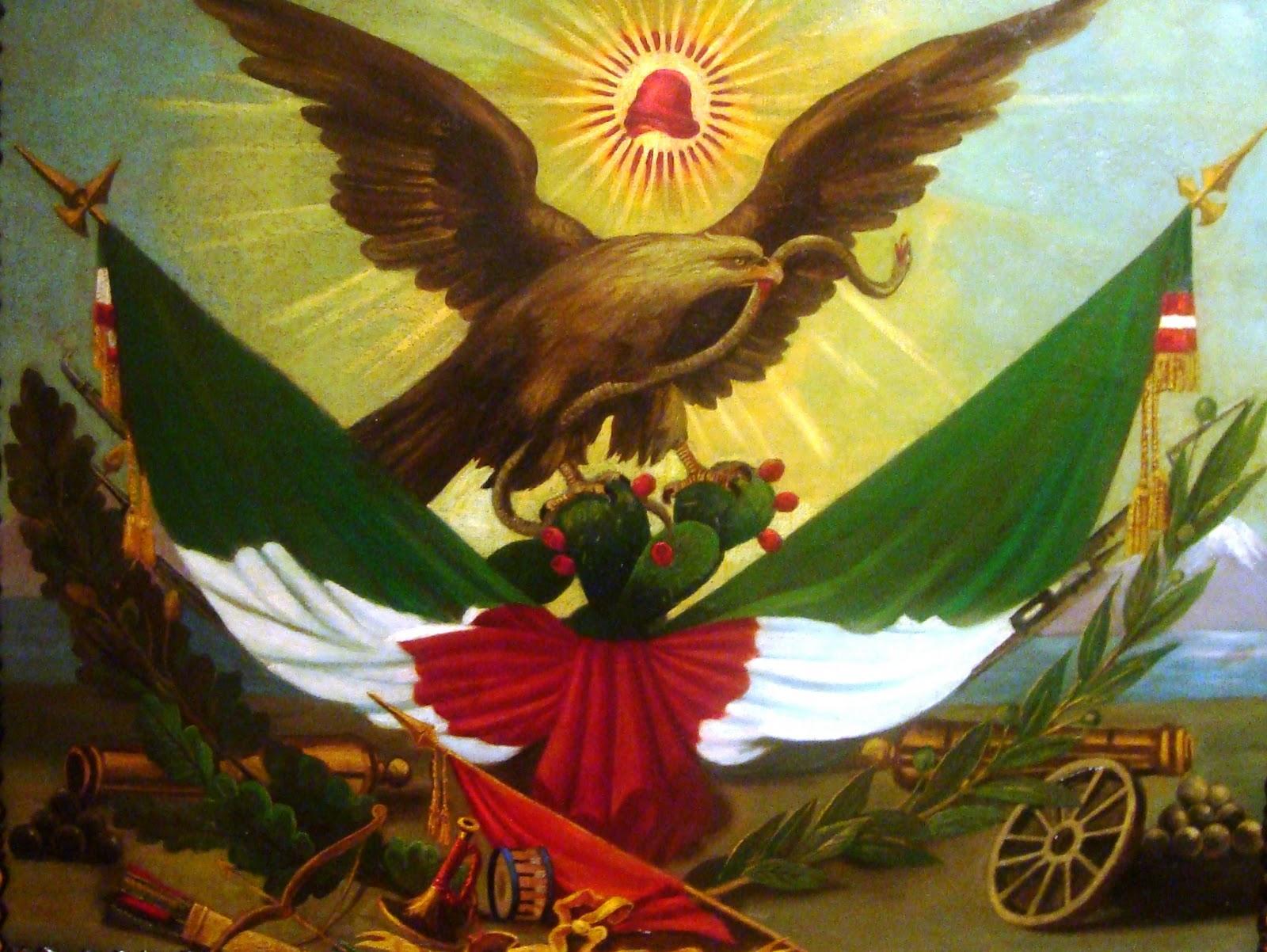 Benito Juarez Con La Bandera De Mexico