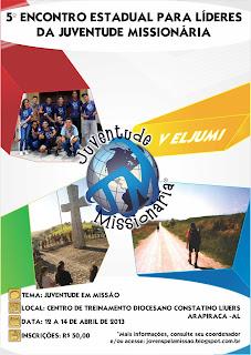 Participe do 5º Encontro de Formação da Juventude Missionária de Alagoas