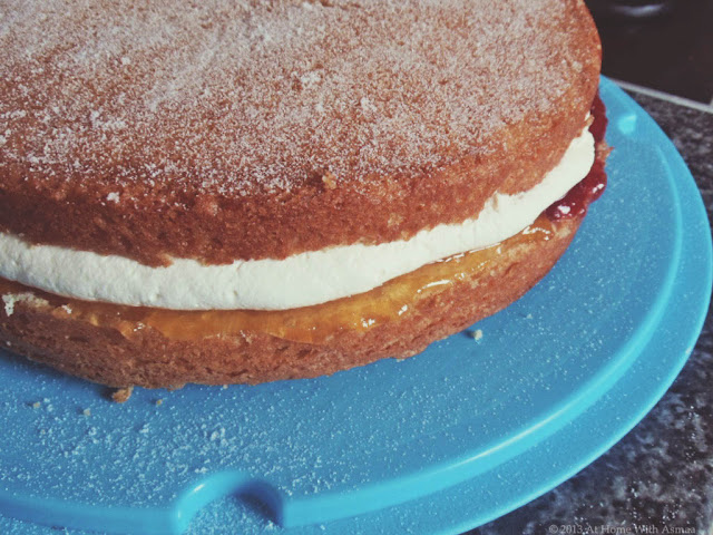 victoria sandwich sponge cake recipe | Halal Home Cooking
