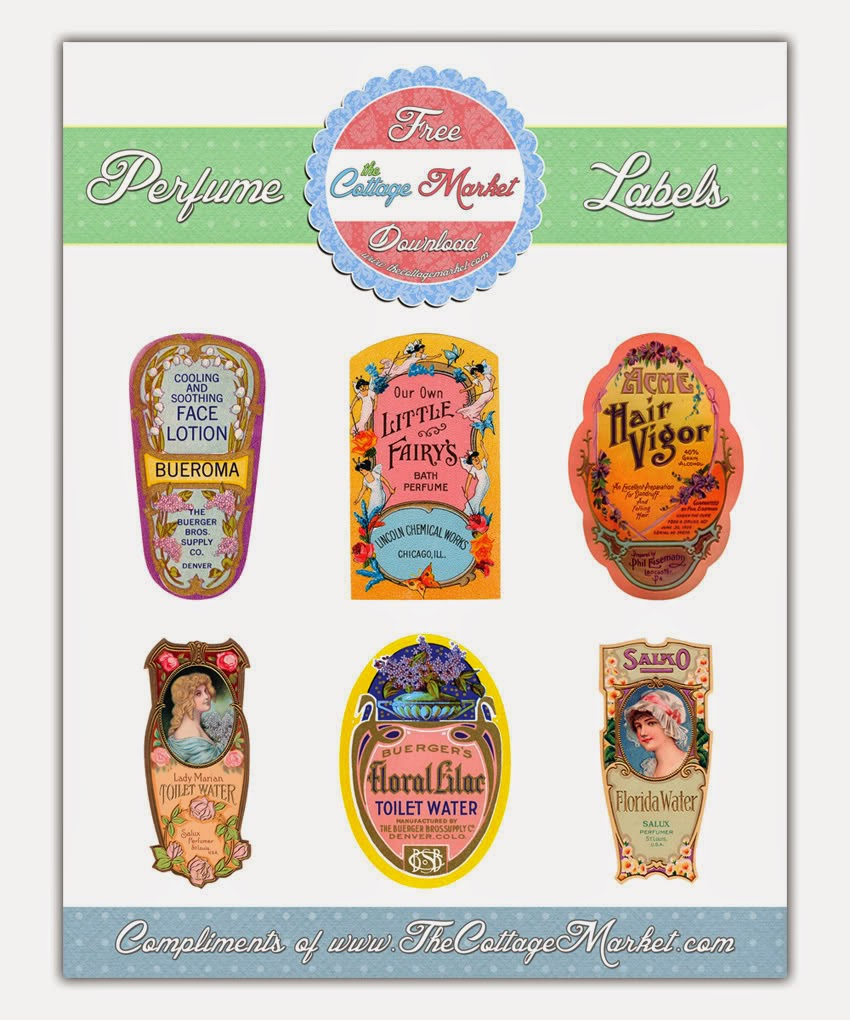 Perfume Bottle Label, Vintage Labels, Bottle Labels