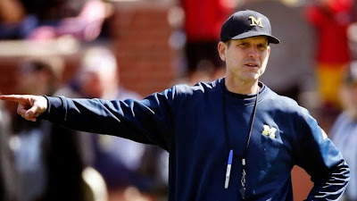 Jim Harbaugh is the last person on Earth to find out Lou Holtz had left ESPN.