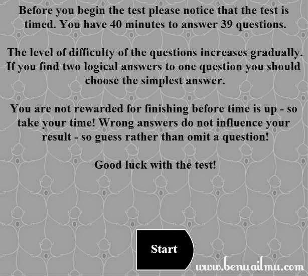 pengarahan sebelum Test IQ