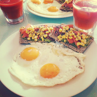 Instagram Breakfast Eggs and Salmon Food Blog