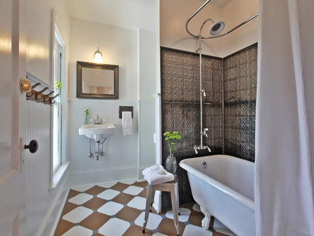 My Salvaged Bathroom Design Featured On Funky Junk Interiors!