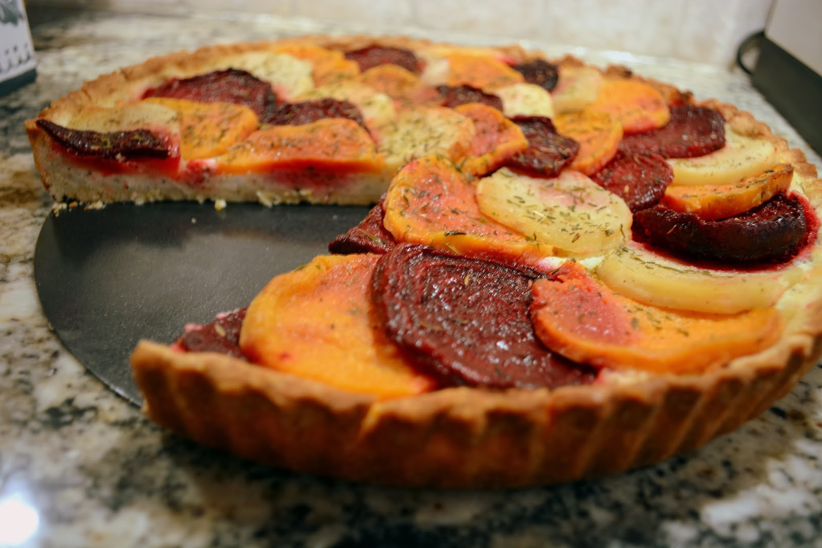 ... Fiori Favoriti: A Savory Roasted Root Vegetable and Goat Cheese Tart