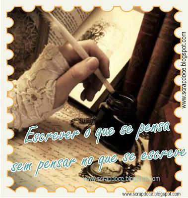 Foto Mensagem com frase sobre Escrever para compartilhar no Facebook