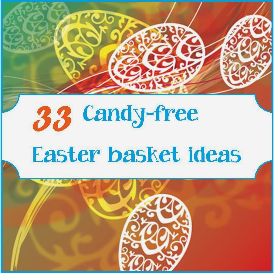 candy free easter basket ideas with printable