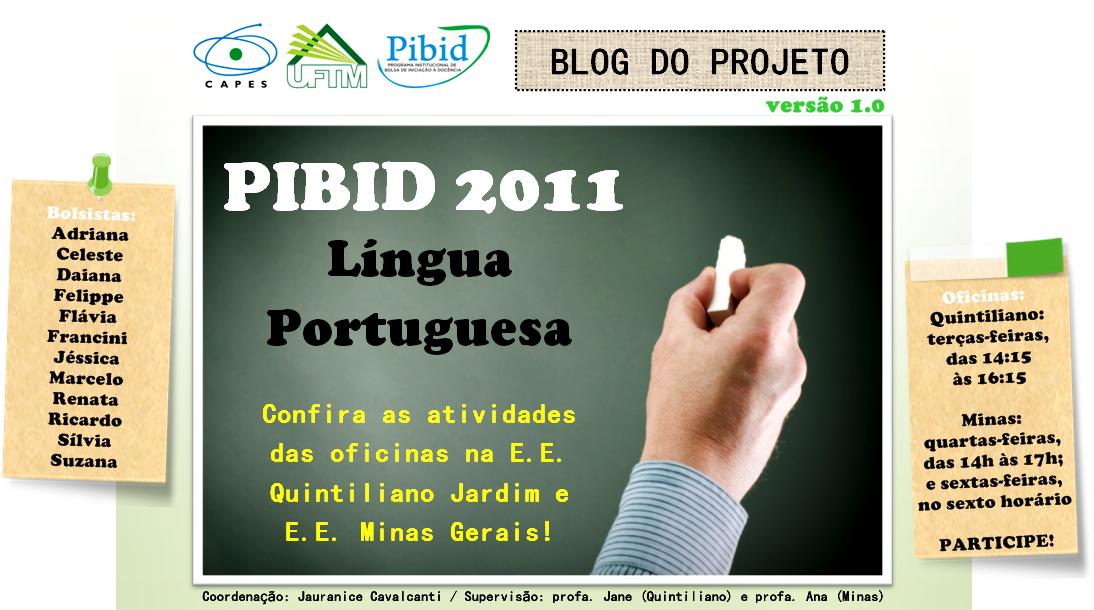 PIBID 2011 - LÍNGUA PORTUGUESA