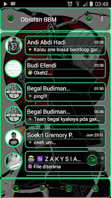 BBM Mod Transparent Green Light Versi 2.10.0.31