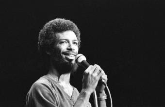 Gil Scott-Heron, durante una actuación en 1977.- MICHAEL OCHS ARCHIVES (GETTY)