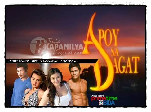 Piolo Pascual, Diether Ocampo, Angelica Panganiban and Angelica Panganiban in Apoy Sa Dagat