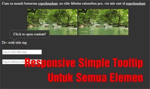 Responsive Simple Tooltip Untuk Semua Elemen