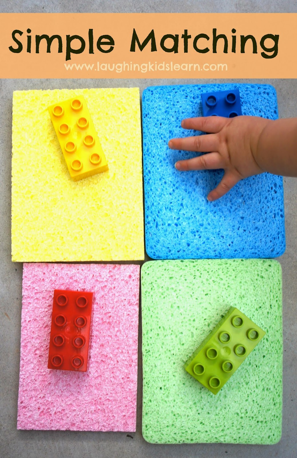 Learn with Play at Home: Simple Toddler Colour Matching Activity