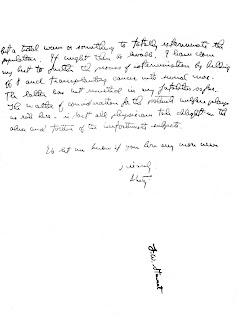 A carta de Cornelius P. Rhoads
