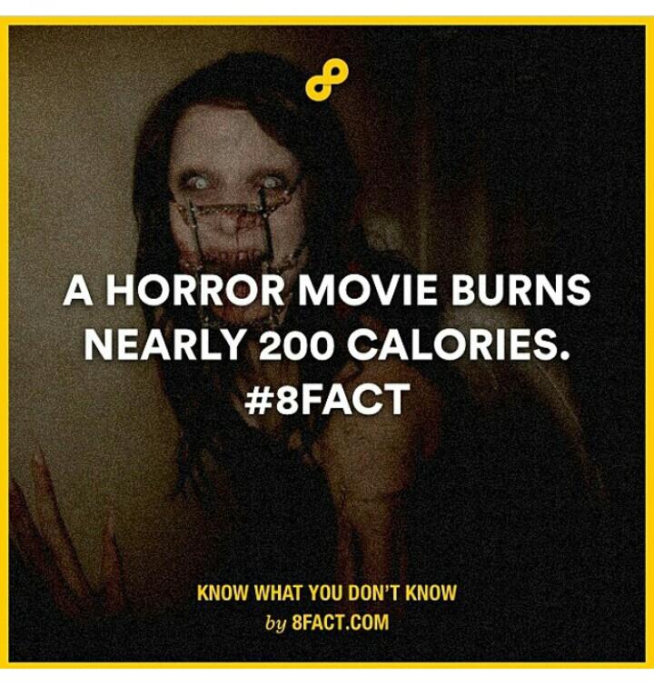 Tengok movie seram boleh bakar kalori