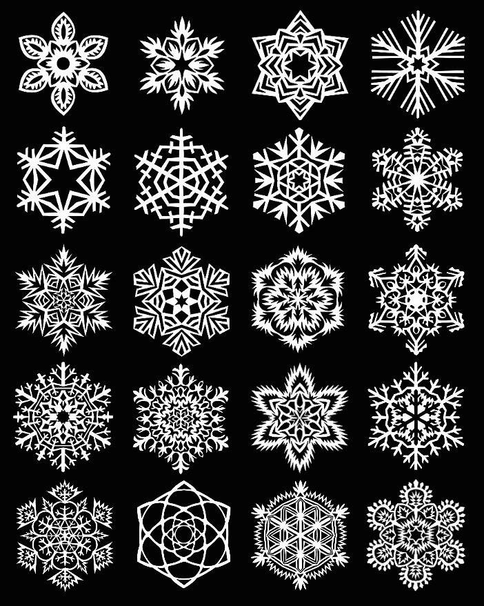 инструкция красивых снежинок из бумаги