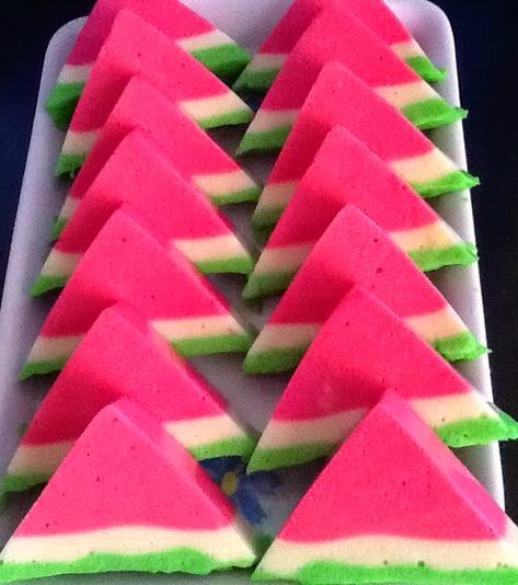 puding bentuk semangka