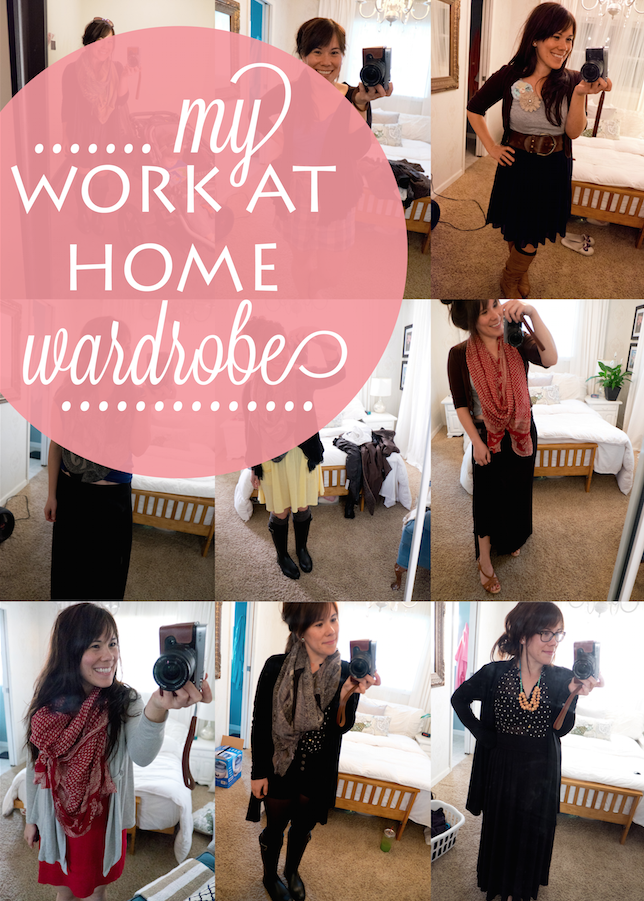 Work at Home Wardrobe: What to wear at home to be comfortable but still stylish. Great for stay at home moms as well!