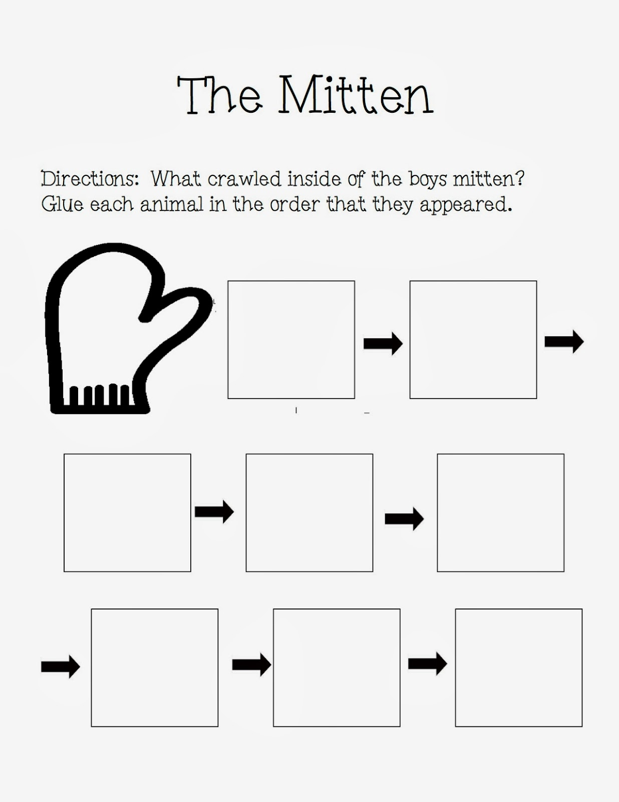 "... Autism Adventures of Room 83: ""The Mitten"" By Jan Brett Activities"