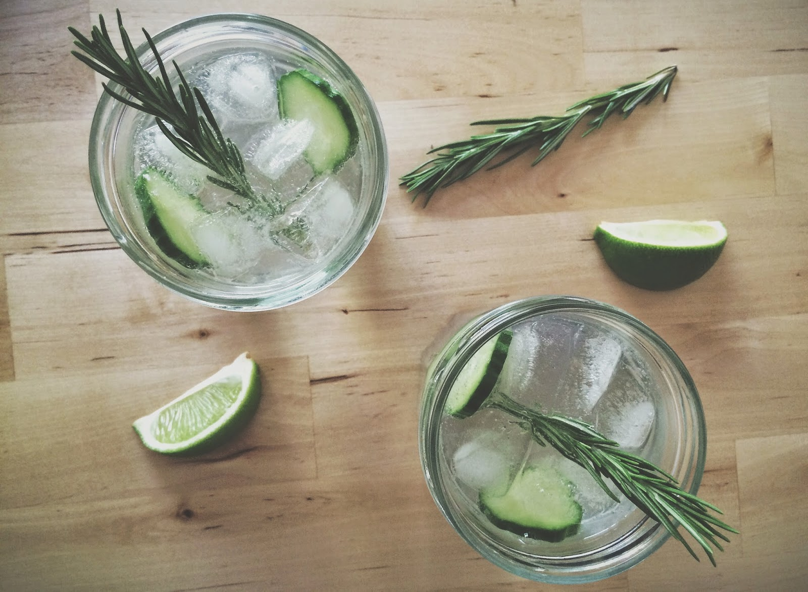 Cucumber and Rosemary Gin and Tonic, Cocktail