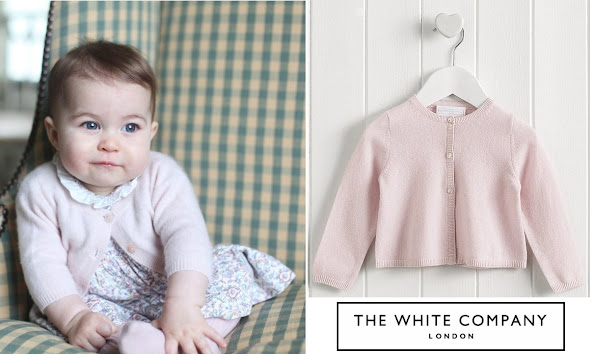 Princess Charlotte wore a pink sweater by The White Company