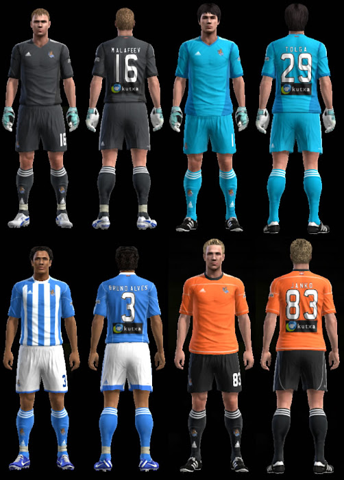 PES 2013 Real Sociedad Adidas Fantasy Kits by Tattoo Ray