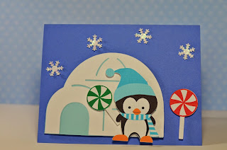 Penguin Winter Candyland Baptism Invitations