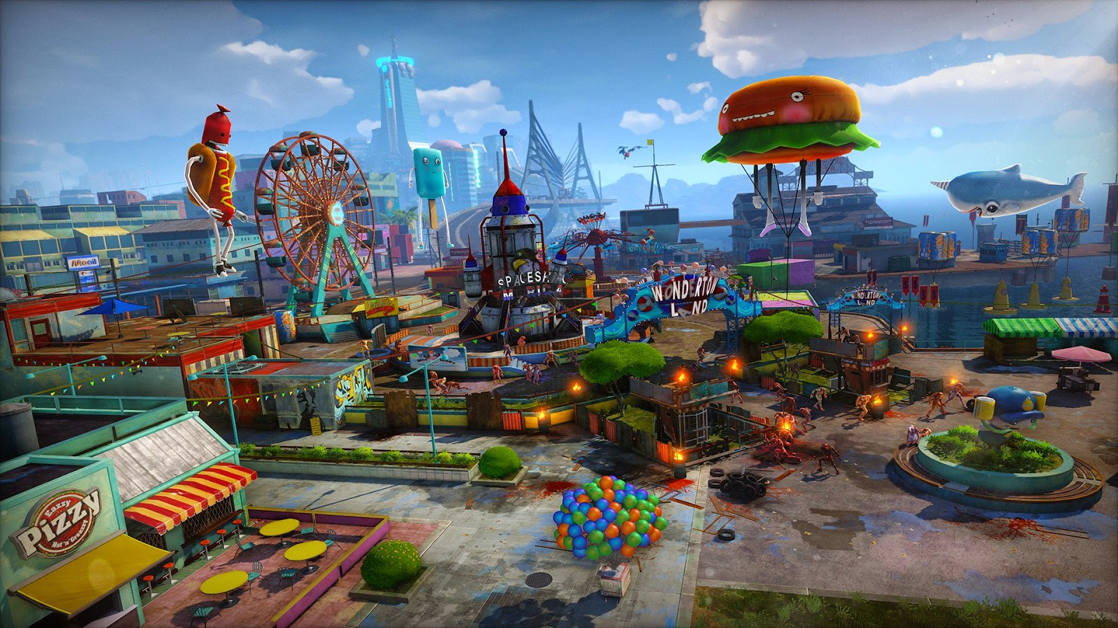 sunset overdrive escenario