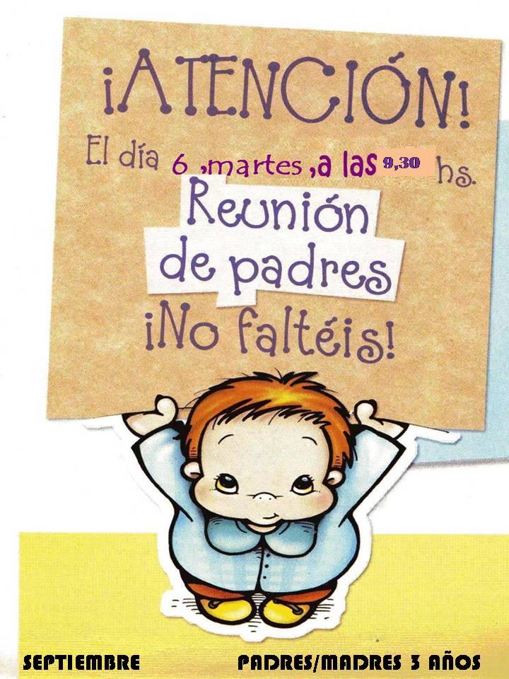 REUNIÓN PADRES/MADRES 3 AÑOS