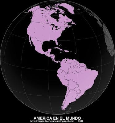 AMERICA, vista de America en el mundo
