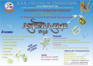 Asthra-2k12 National Level Technical Symposium KSRCE