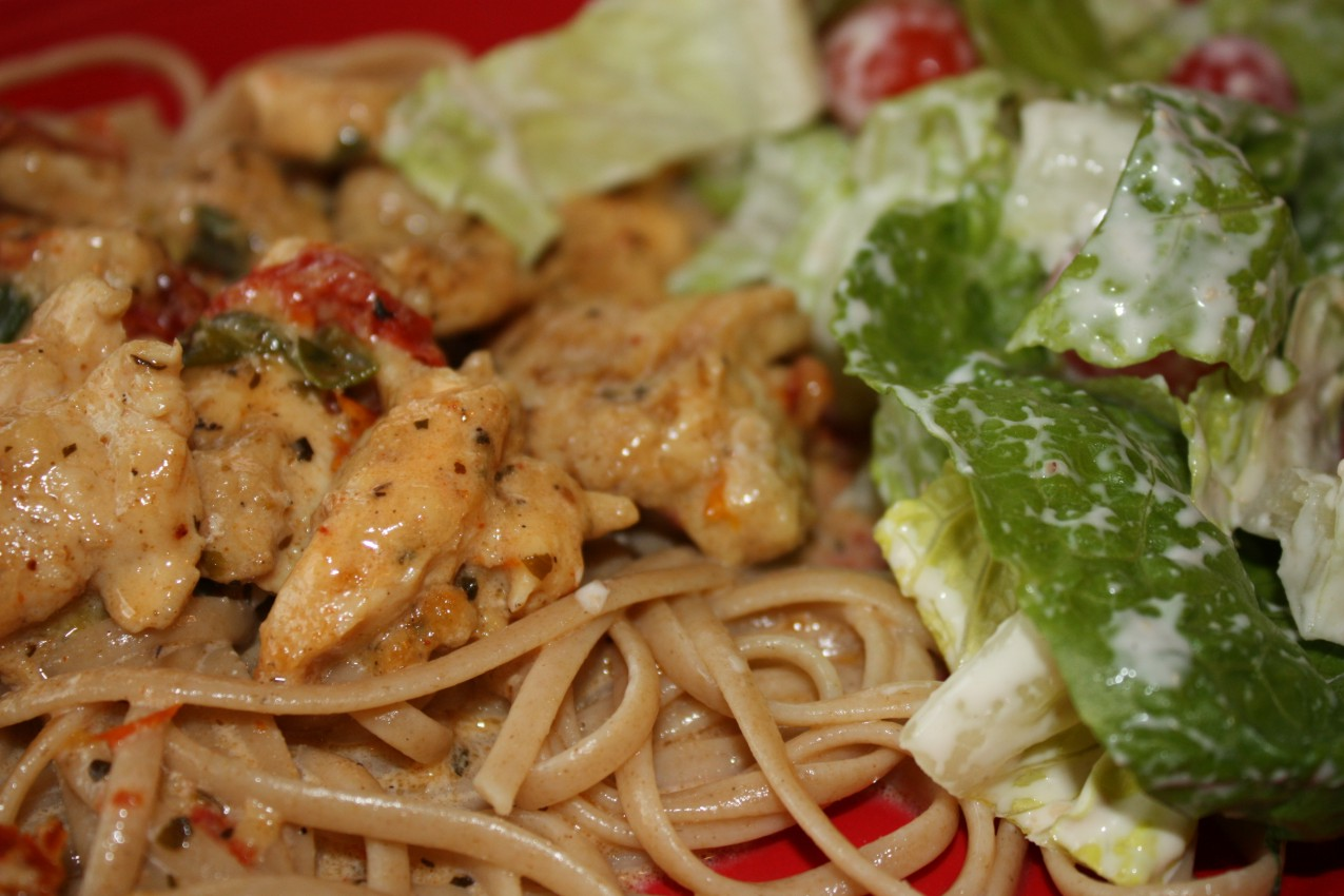 pass the peas, please: cajun chicken pasta