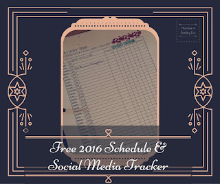 Free 2016 Schedule & Social Media Tracker