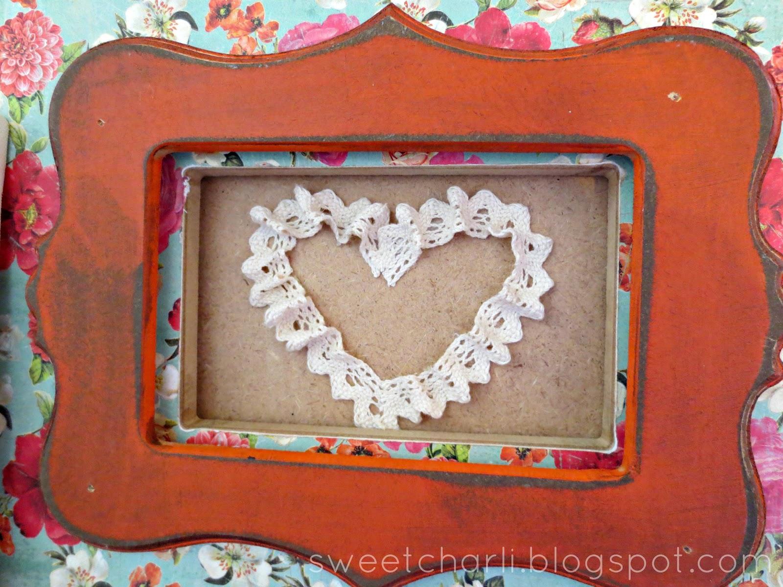Crochet Tape Heart Art - Sweet Charli
