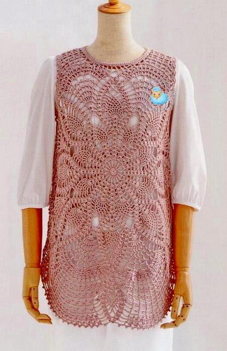 Crochet Sweaters: Crochet Tunic Pattern - fabulous Lace Tunic