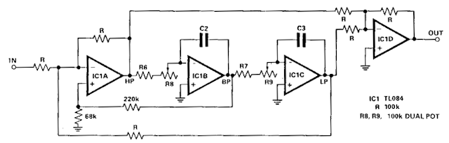 Build an Audio notch filter 2 Circuit Diagram