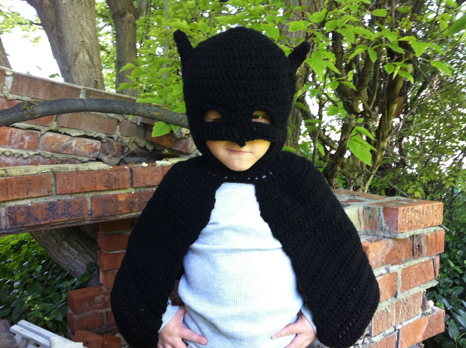Free Crochet Patterns For Baby Halloween Costumes : Design Adventures: Batman Inspired Costume