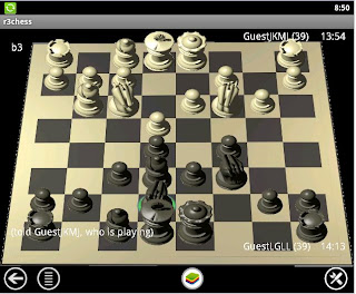 3D android chess board for FICS R3chess_Fics